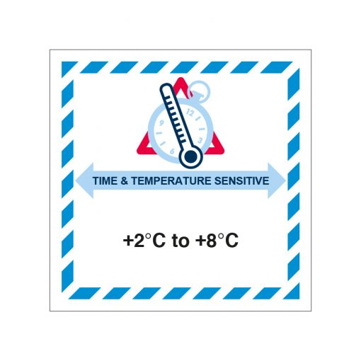 IATA TTS label +2°C/+8°C